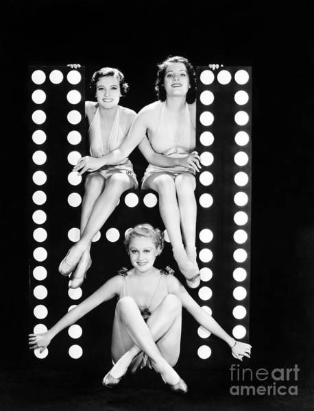 Wall Art - Photograph - Three Young Women Posing With The by Everett Collection