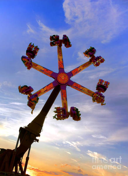 Fairground Photograph - Thrill Ride by Olivier Le Queinec