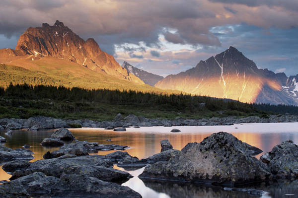 Art In Canada Photograph - Throne Mountain And Blackhorn Peak by Art Wolfe
