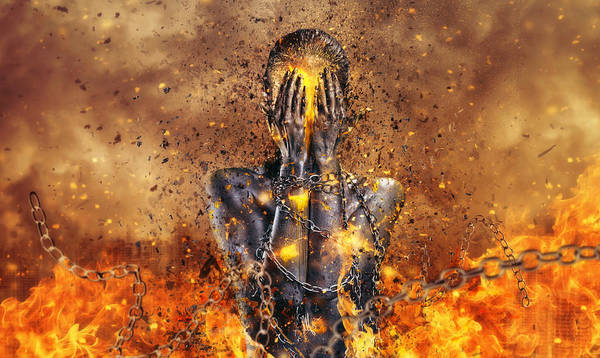 Emotional Digital Art - Through Ashes Rise by Mario Sanchez Nevado