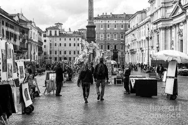 Photograph - Through Piazza Navona In Rome by John Rizzuto