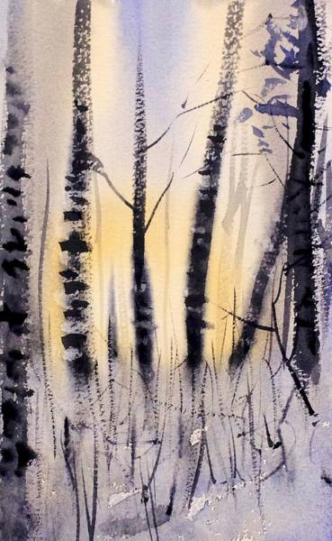 Redwood City Wall Art - Painting - Through The Aspens by Max Good