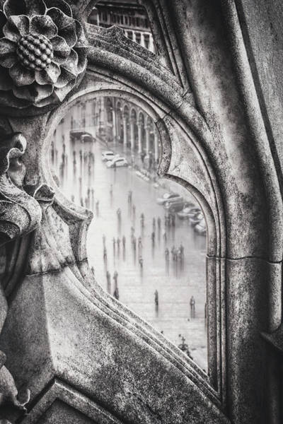 Wall Art - Photograph - Through The Duomo Milan Italy Black And White  by Carol Japp