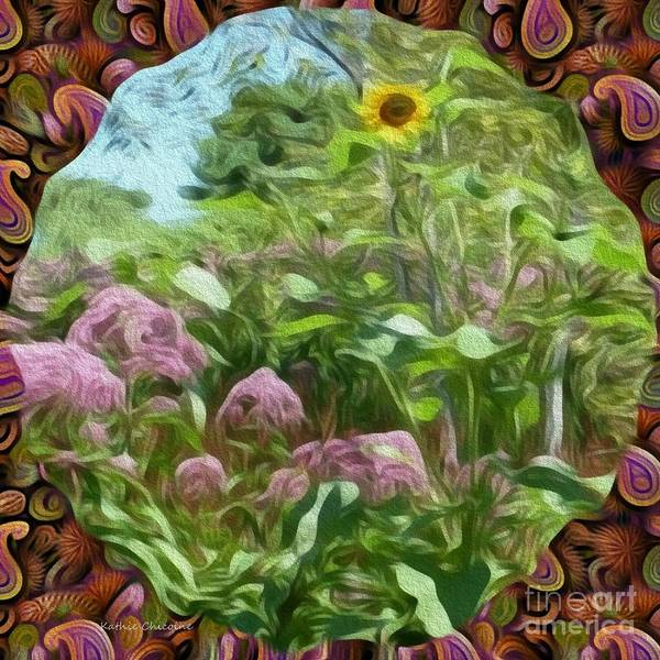 Digital Art - Through The Fence by Kathie Chicoine