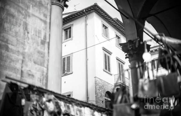 Photograph - Through The Loggia Del Mercato Nuovo Florence by John Rizzuto