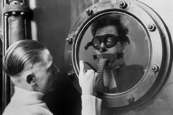 Gesturing Photograph - Through The Porthole by Keystone