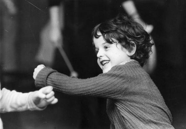 1974 Photograph - Throwing A Punch by Graham Wood