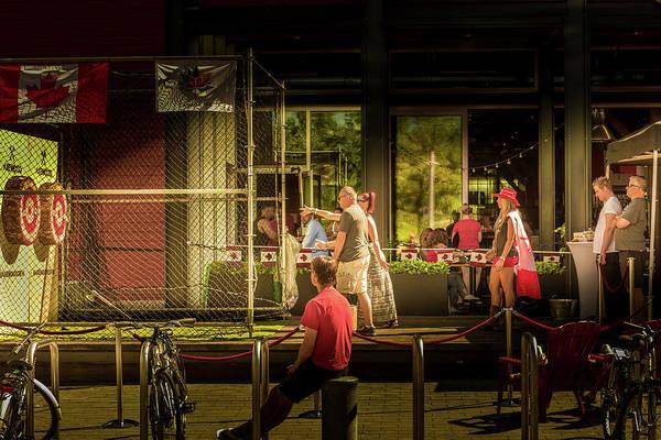 Photograph - Throwing Axes Game by Juan Contreras