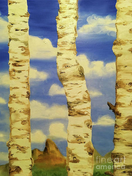 Painting - Thru The Aspens View by Shelley Myers