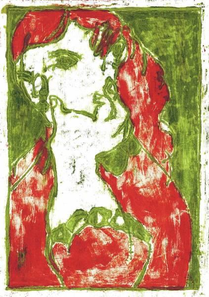 Painting - Thumb Cheek Girl 1 by Artist Dot