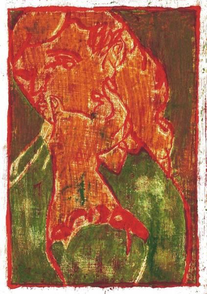 Painting - Thumb Cheek Girl 5 by Artist Dot