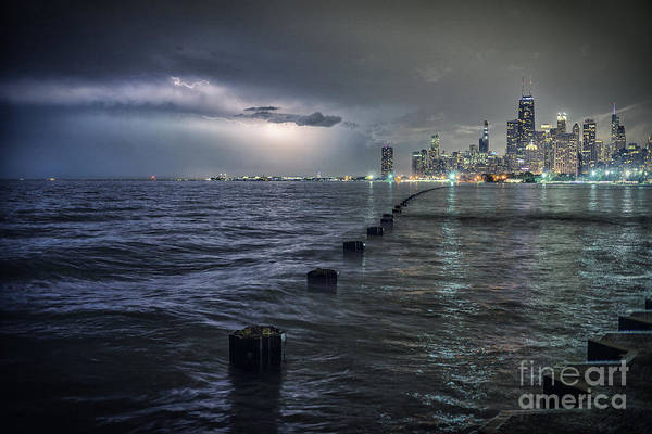 Wall Art - Photograph - Thunder And Lightning In The Dark City by Bruno Passigatti