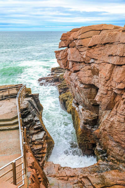 Photograph - Thunder Hole Acadia National Park by Dan Sproul