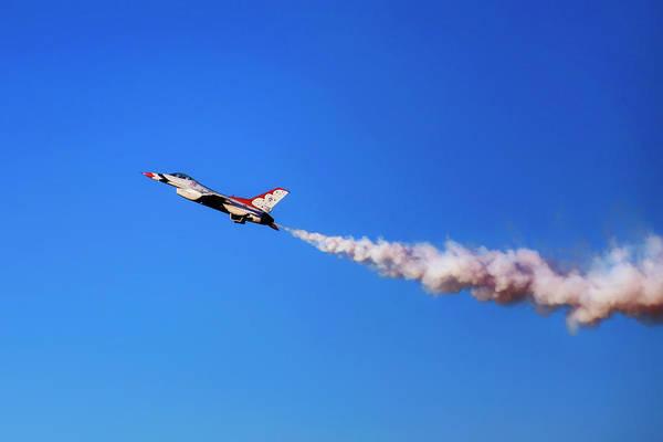 Photograph - Thunderbird 5 High Alpha Pass - Air Force - Usaf F-16 by Jason Politte
