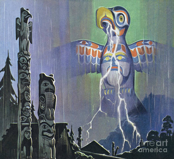 Indian God Painting - Thunderbird by Angus McBride