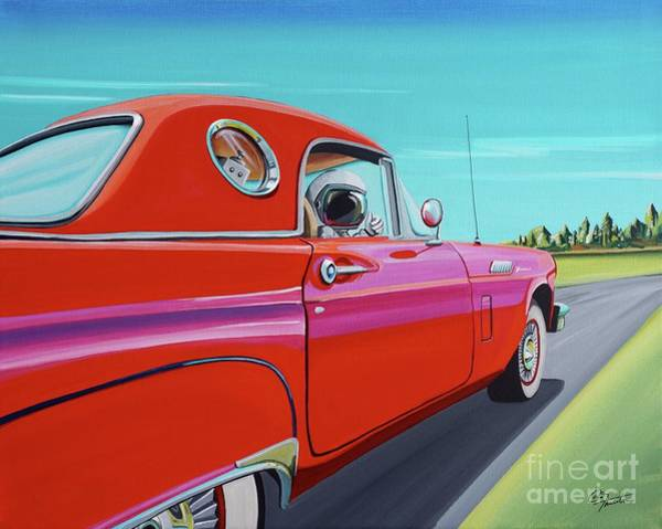 Wall Art - Painting - Thunderbird by Cindy Thornton