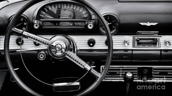 Photograph - Thunderbird Interior Monochrome by Tim Gainey