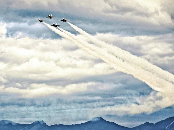 Elmendorf Photograph - Thunderbirds And Contrails by Bob Lynn