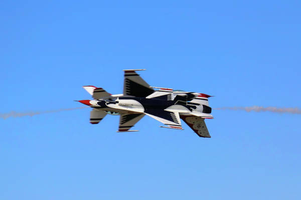 Photograph - Thunderbirds Opposing Pass - Air Force - Air Show by Jason Politte