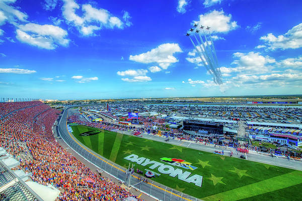 Wall Art - Photograph - Thunderbirds Over The Daytona 500 by USAF Cory Bush