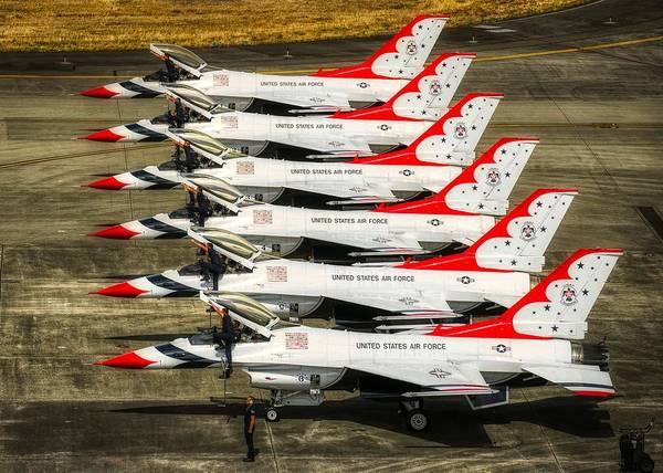 Wall Art - Photograph - Thunderbirds Ready by U S A F Christopher Boitz