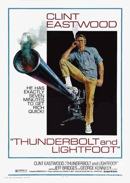 Photograph - Thunderbolt And Lightfoot 1974 by Kultur Arts Studios