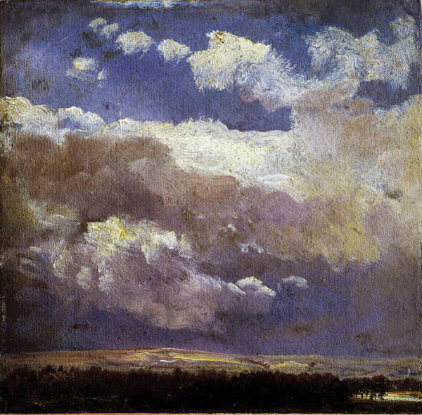 Wall Art - Painting - Thunderclouds - Digital Remastered Edition by Johan Christian Dahl