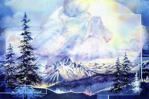 Painting - Thunderheads Over The Rockies by Connie Williams