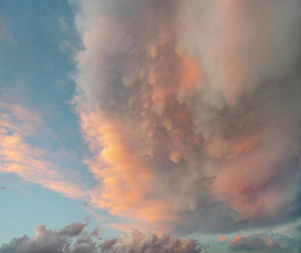 Photograph - Thunderstorm Cloud At Sunset, North by Tim Fitzharris