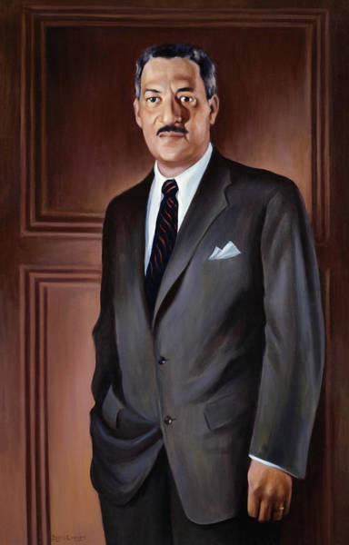Wall Art - Painting - Thurgood Marshall Painting - Betsy Graves Reyneau by War Is Hell Store