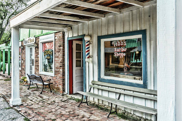 Photograph - Tibb's Barber Shoppe by Sharon Popek