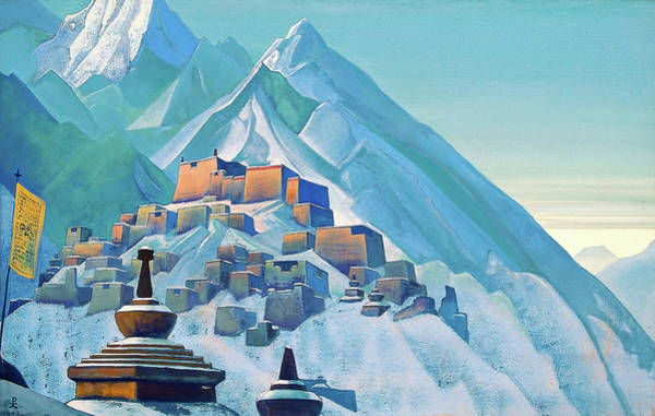 Wall Art - Painting - Tibet Himalayas - Digital Remastered Edition by Nicholas Roerich