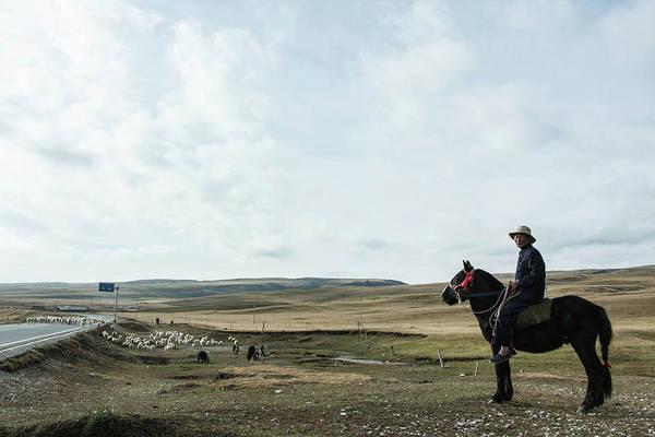 Wall Art - Photograph - Tibetan Herdsman by Paulshao