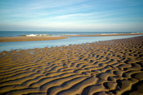 Wet Sand Photograph - Tidal Beach Lagoon by Digiclicks