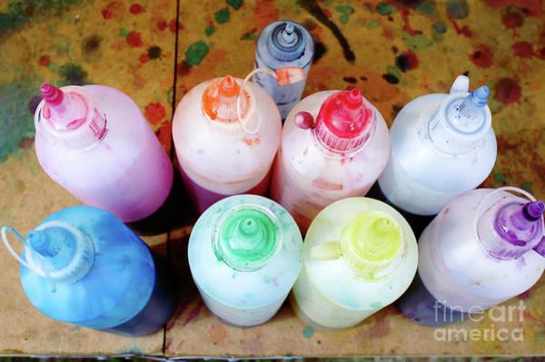 Wall Art - Photograph - Tie Dye Paints by Tom Gowanlock