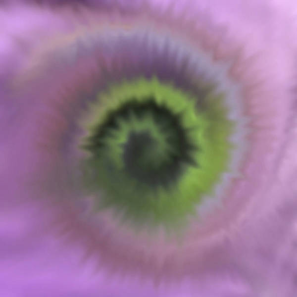 Digital Art - Tie Dye Ultra Violet by Perry Correll