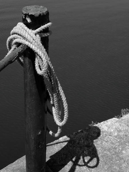 Art Print featuring the photograph Tied, Rope by Edward Lee