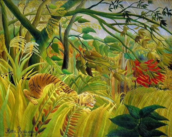 Wall Art - Painting - Tiger In A Tropical Storm - Digital Remastered Edition by Henri Rousseau