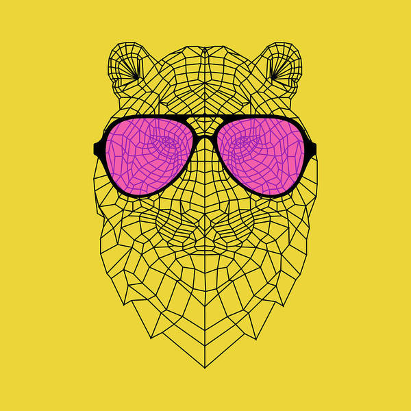 Wall Art - Digital Art - Tiger In Pink Glasses by Naxart Studio