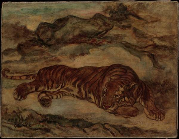 1875 Digital Art - Tiger In Repose by Brahaman Dhumsi