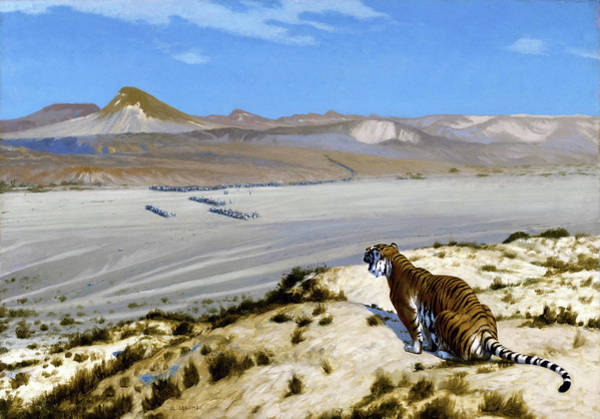 Barren Painting - Tiger On The Watch - Digital Remastered Edition by Jean-Leon Gerome