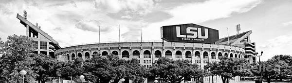 Wall Art - Photograph - Tiger Stadium Panorama - Bw by Scott Pellegrin