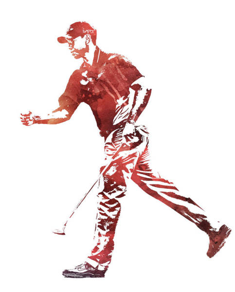 Wall Art - Mixed Media - Tiger Woods 2019 Masters Champion Pixel Art 51 by Joe Hamilton