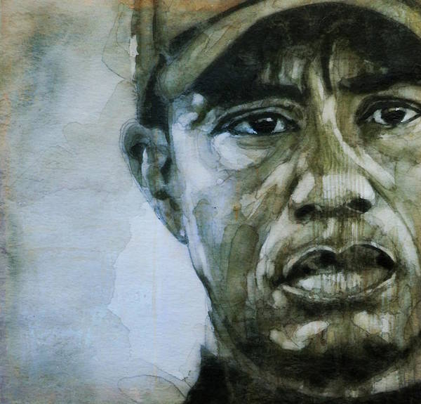 Golf Painting - Tiger Woods - On The Road Again  by Paul Lovering