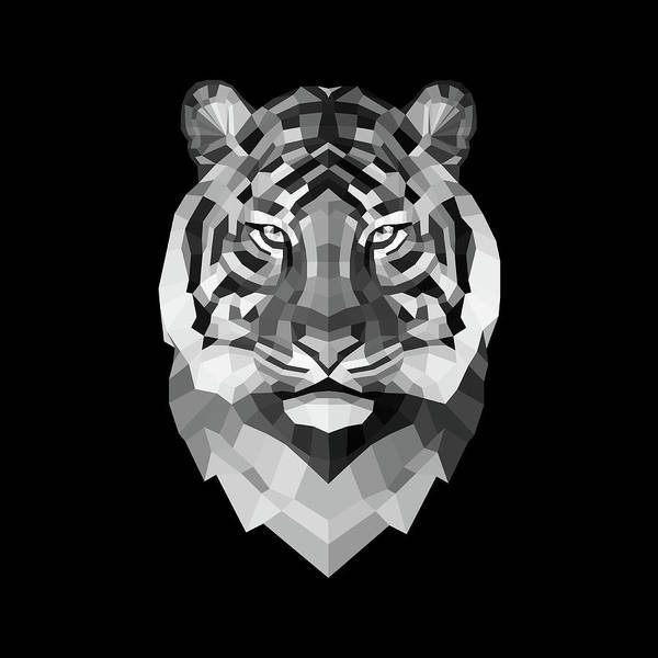 Wall Art - Digital Art - Tiger's Face by Naxart Studio