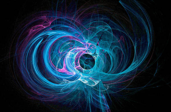 Digital Art - Tight Spiral Fractal Art Blue by Don Northup