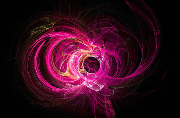 Digital Art - Tight Spiral Fractal Art Pink by Don Northup