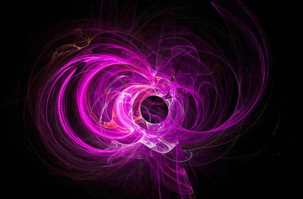 Digital Art - Tight Spiral Fractal Art Purple by Don Northup