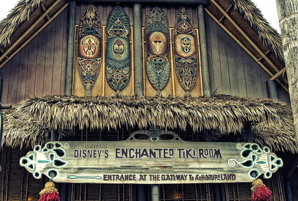 Wall Art - Photograph - Tiki Room Adventureland Disneyland by Thomas Woolworth
