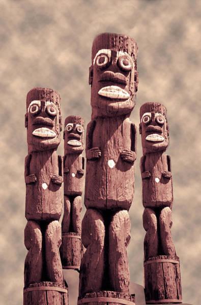 Digital Art - Tikis Honolulu  by Matthew Bamberg